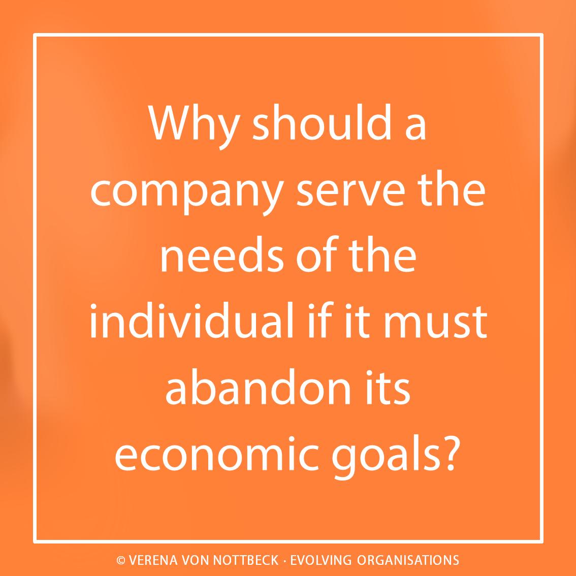 Warum sollte ein Unternehmen die Bedürfnisse des Einzelnen bedienen, wenn es dafür seine wirtschaftlichen Ziele aufgeben müsste?