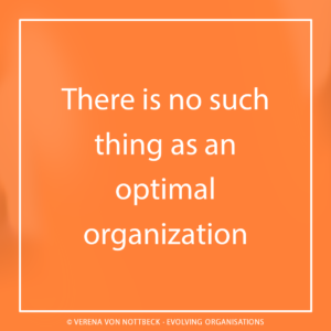 There is no such thing as an optimal organization